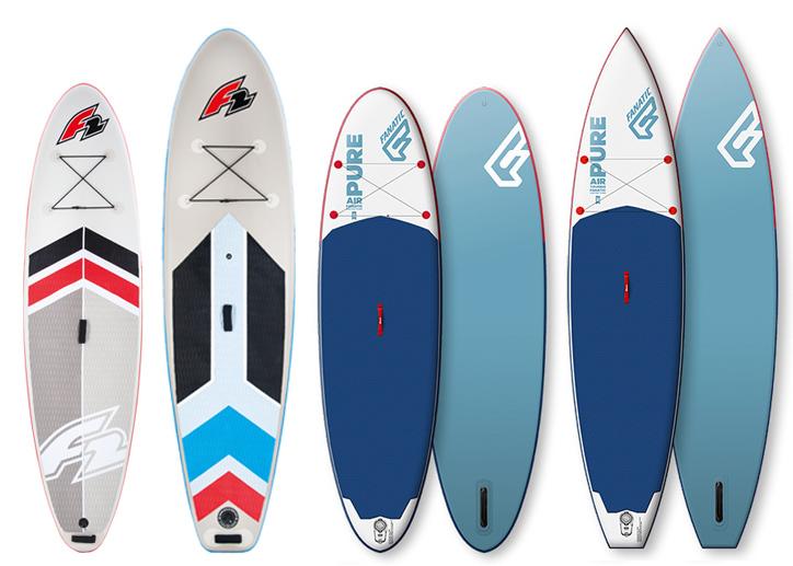 Günstige Stand Up Paddle Boards von F2 und Fanatic