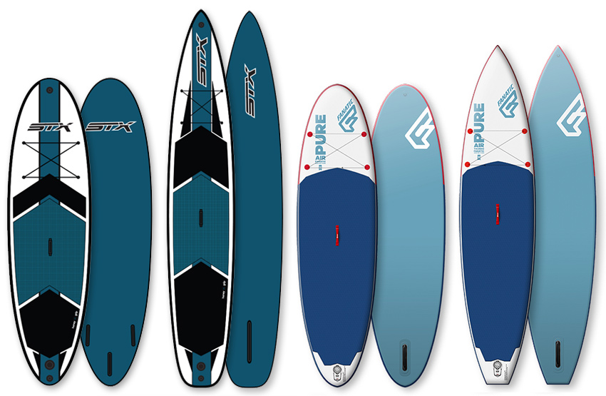 STX und Fanatic Pure Stand Up Paddle