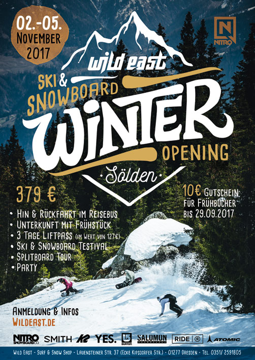 Winter Opening 2017 - Wild East Ski & Snowboard Testival