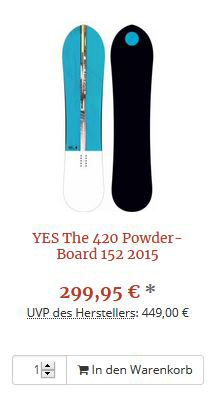 YES 420 Snowboard